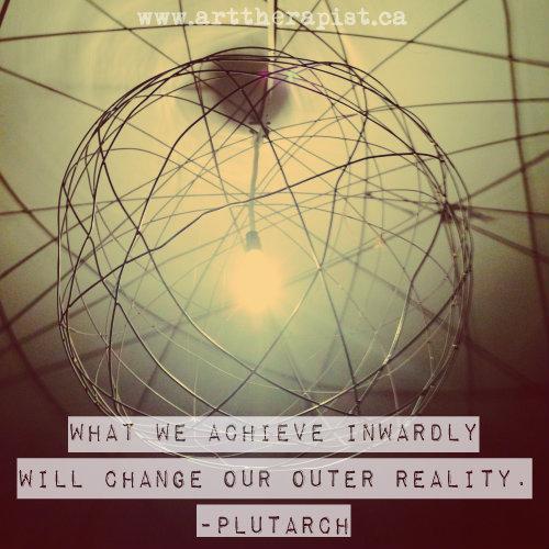 what we achieve inwardly