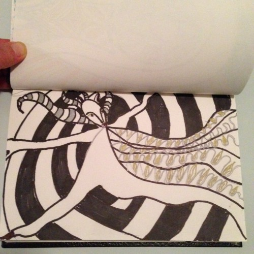 #DoodleADay Day 2 October Challenge at ArtTherapist.ca