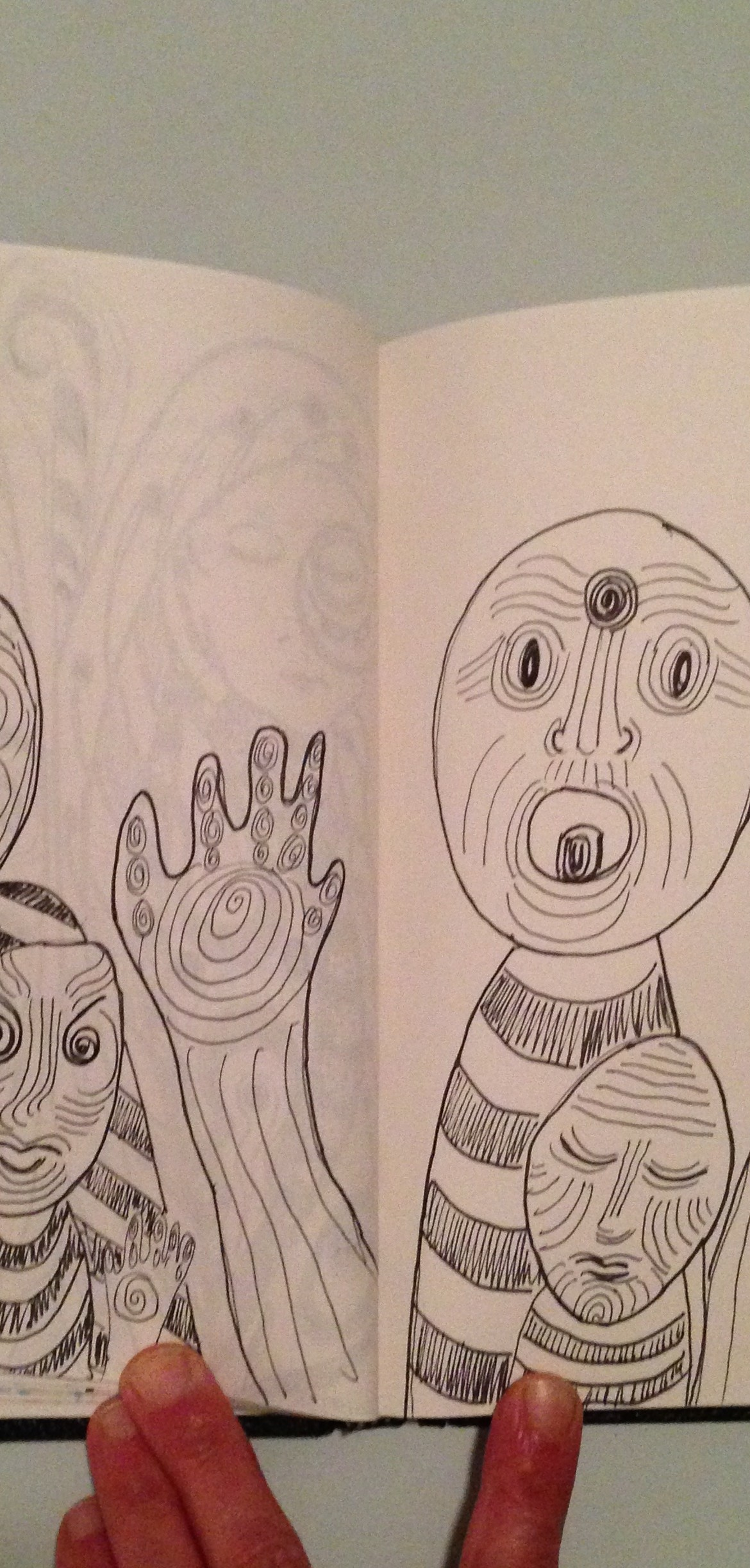 #DoodleADay Challenge Day 10 at ArtTherapist.ca unfinished