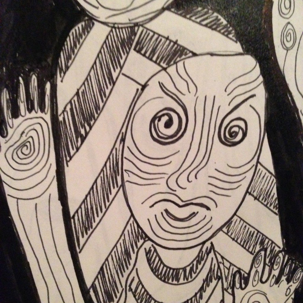 #DoodleADay Challenge Day 10 at ArtTherapist.ca  Close-up 4