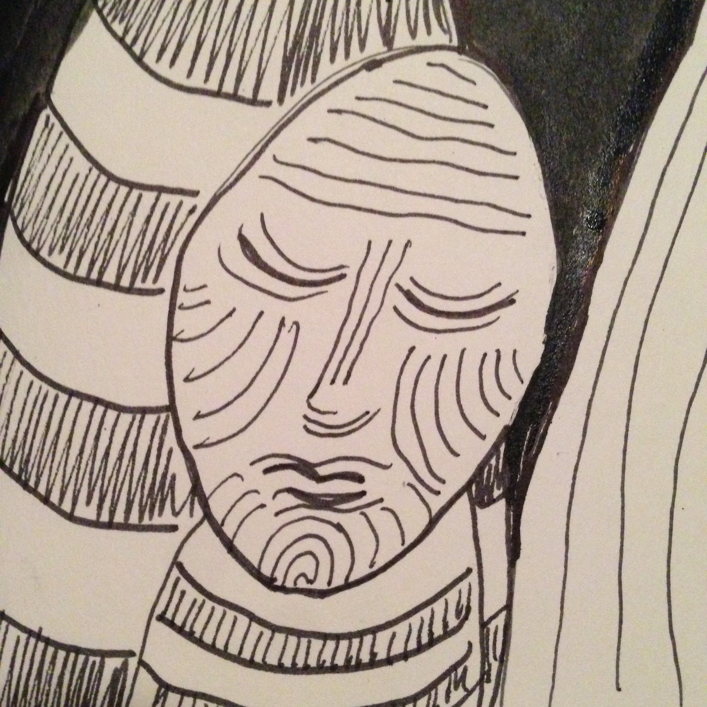 #DoodleADay Challenge Day 10 at ArtTherapist.ca close-up 2