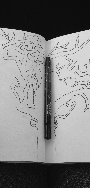 #DoodleADay Day 12 Treeein progress ArtTherapist.ca