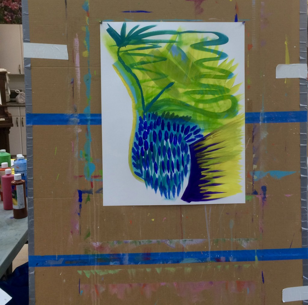 Intuitive painting Painting with your muse 2016
