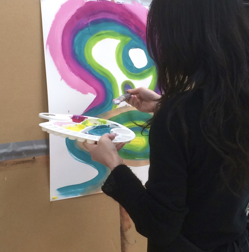 intuitive painting swirls