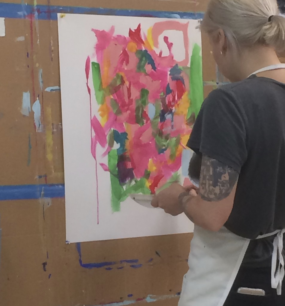 Intuitive painting beginning
