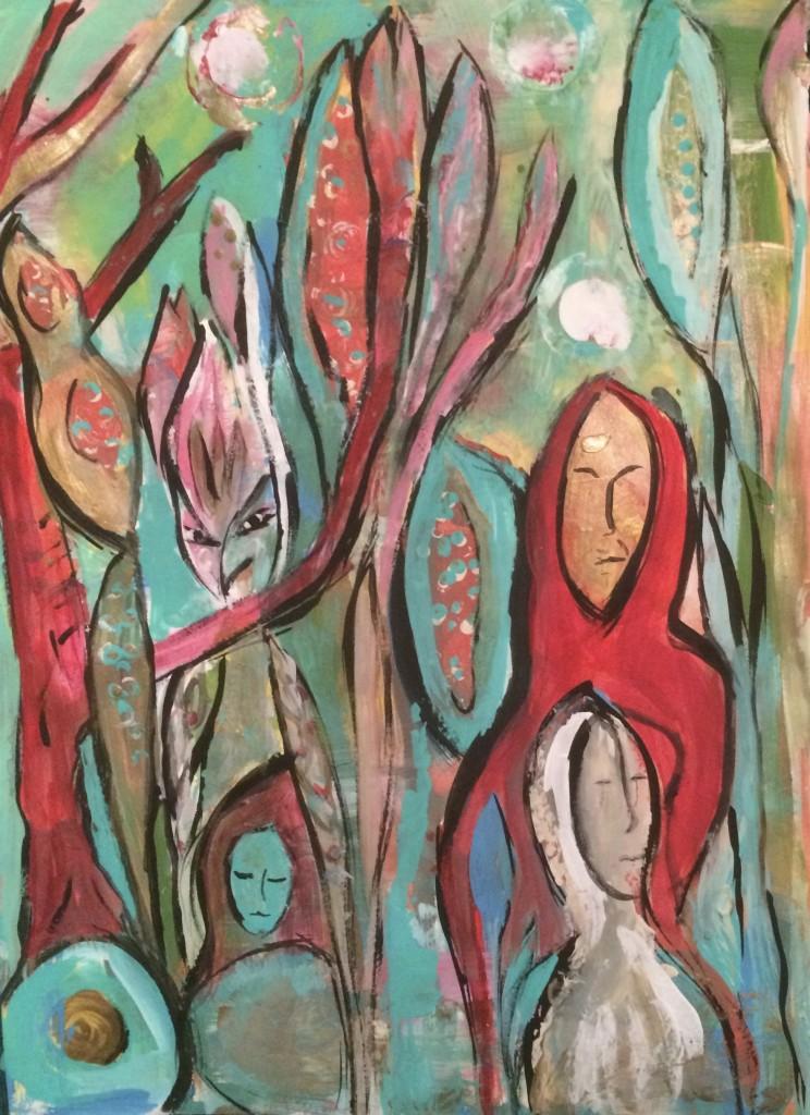 #CreateEachDay Bird Figures close up Petrea Hansen-Adamidis
