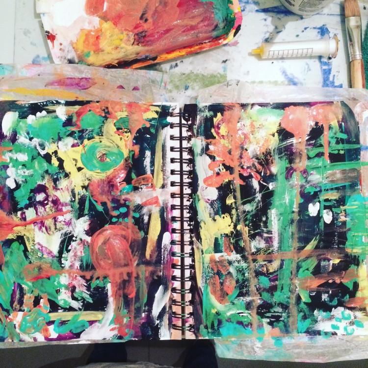 its a beginning splatters of colour art journaling #createeachday