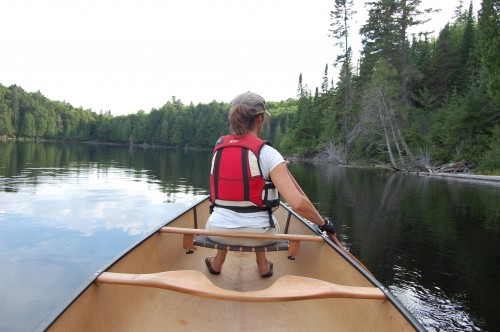 Petrea Canoeing Algonquin Park